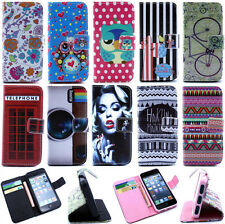Fashion Magnetic PU Leather Flip Wallet Stand Case TPU Gel Cover For Cell Phones