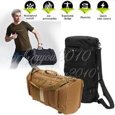 Sac Dos 50L Backpack Canvas Toile Assault Tactique Impermeable Militaire Outdoor
