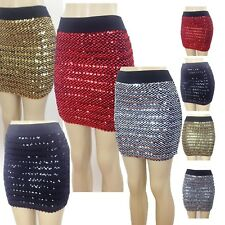 Sequin BodyCon Panel Party Mini Sequin Skirt Sexy Bandage Glitter , Skirt Party