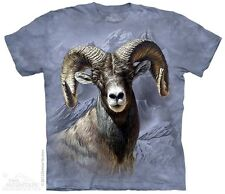 THE MOUNTAIN BIG HORN SHEEP ANIMAL GRASS FARM GOAT FUR OVIS T TEE SHIRT S-5XL