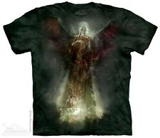 THE MOUNTAIN DEATH ANGEL SKELETON SKULL WINGS EVIL HALO RING T TEE SHIRT S-5XL