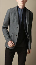 NWT BURBERRY BRIT AW13 Mens Check Wool Detachable Quilted Bib Blazer Jacket Blue