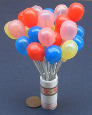 1:12 Dolls House Miniature Plastic Balloon On A Metal Stick Garden Accessory