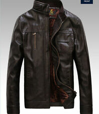 HOT ! New men's leather jackets coat fashion Slim thick coats collar jacket