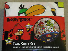 Brand New! Angry Birds 3 Piece Bedding Set Twin Size Sheet Set