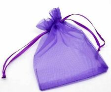 New 100/300/500/1000/2000 Drawable Organza Wedding Gift Bags & Pouches 9x12cm