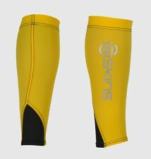 Skins Unisex Compression Calf Tights MX  ( Yellow / Black ) + Free AUS Delivery