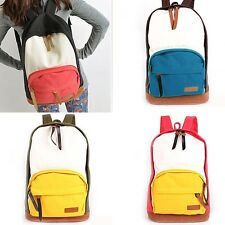 SUPER CHEAP!! Candy Colors Lady Casual Canvas Backpack Satchel Book Bag Rucksack