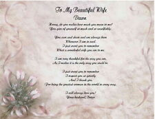 Personalized Poem Gift For Wife Anniversary Birthday Christmas or Valentines Day