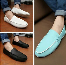 Mens Soft Casual Leather Loafers Slip On Moccasin Driving Shoes 3 Colors T118