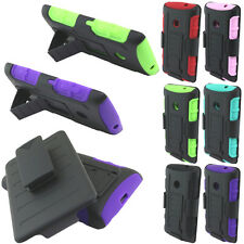 For Nokia Lumia 521 KICKSTAND Hybrid Holster Hard Rubber Silicone Case Cover