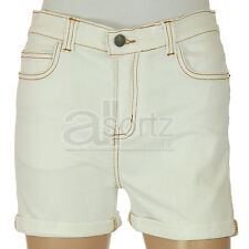 Girls Designer Soul & Glory White Cotton Rich Denim Shorts Trendy BNWT New