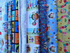 DICK AND JANE QUILTING FABRIC FAT QUARTERS ASSORTED CHOOSE PRINT 100% COTTON