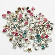 200pcs Rhinestone Crystal Gemstone Spacer Beads For Jewelry Making 4mm NEW