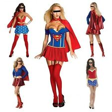 Women's Fashion Fancy Cosplay Dress Halloween Full Set Superman Party Costume