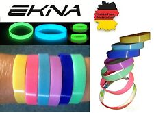 Glow In The Dark Silicone Wrist Band Bracelet Silicone Bracelet glowing at night
