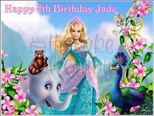 BARBIE ISLAND PRINCESS EDIBLE CAKE & CUPCAKE TOPPERS Icing or Wafer