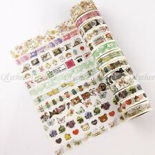 1X Sticky Adhesive Sticker Decor Washi Tape DIY Stationery Europe Style Pattern
