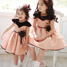 Baby Kids Girls Princess Dress Flower Formal One Piece Dress Wedding Party Skirt