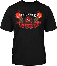 Minecraft Powered By Redstone Officially Licensed Youth Black T-Shirt