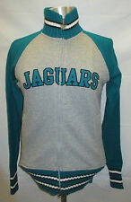 Jacksonville Jaguars Women's Full Zip with Sweater Sleeves   Gray & Teal