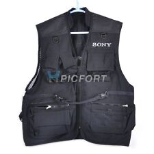 New black photographer photo vest 3 sizes for Sony fans a300 a700 a900 a100
