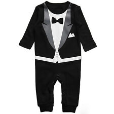 Kids Baby Boy Cotton Gentleman Romper Jumpsuit Bodysuit Clothes Outfit 3-24M New
