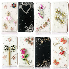 Bling diamond Book Wallet Leather Case Cover Pouch For Nokia phone accessoriees