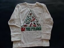 NWT Boy's Gymboree Christmas Elf food pyramid candy long sleeve shirt ~ 4 5 6 12