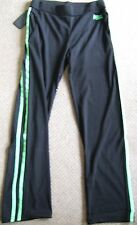 NEW LONSDALE BLACK/LIME GREEN SPORTS TROUSERS Size 10, 12