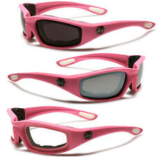 SOFT TOUCH WOMEN PINK MOTORCYCLE RIDING GOGGLES SHATTERPROOF SPORTS SUNGLASSES