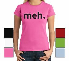 Meh. Funny Juniors T Shirt TV Show Humor Tee Gamer Shirt Geek Humor Gift Shirt
