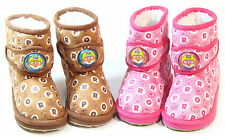 Pororo Kids FUR Suede Ankle Boots Shoes for Girls Boys Infant Toddler Warm Cheap