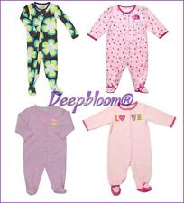 CARTER'S SLEEPWEAR PAJAMA FOOTED GIRLS LADY BUG LOVE PINK FLORAL 3 6 18 4T NEW