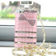 Bling crystal Perfume Bottle shape back Case shell Cover pink 4 4s 5 5S note 2 3