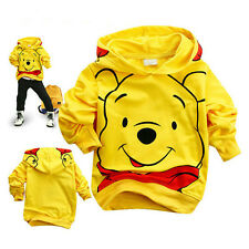 Baby Kids Boys Toddlers Hoodies Tracksuit Children Clothing Set Winnie Bear 1-7Y