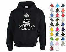 """I CAN'T KEEP CALM I'M A """"ANY NAME/JOB"""" - PERSONALISED HOODIE - 27 COLOURS"""