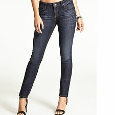 New Guess Women's The Real Skinny Mid-Rise Jeans in Dikens Wash Sz 25 RG