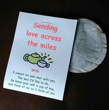 Across the Miles / Sea.  Card & Tea Bag. Unusual gift for friends, family abroad