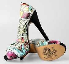 Iron Fist Here I Lie Shark Platform Heels VEGAN