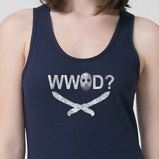 WW JASON D? Funny What Would Jason Do T-shirt Friday The 13th Adult Tank Top
