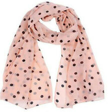 Fashion Girls Women Long Wrap Lady Shawl Polka Dot Chiffon Scarf Scarves Stole