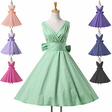 7 STYLES POLKA DOTS Rockabilly Vintage Swing 50s Retro Pin Up Short Prom Dresses