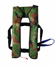 Camo Adult Inflatable Life Jacket Inflation 150N Buoyancy Aid Manual/ Automatic