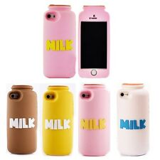 3D Cartoon Milk Bottle Model Phone Cover Case Silicon for iphone 5 5s 5g PC36