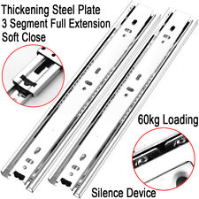 Double Fully Extension Ball Bearing Drawer Slide Runners Heavy Duty 60kg Runner