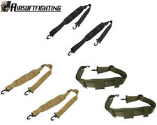 2pcs Airsoft Tactical 1000D Padded Strap with Double Hooks for Bag Pouch Black B
