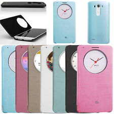 Luxury Quick Circle Flip Leather Case Battery Cover For LG Optimus G3 D855 D850
