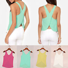 Sexy Womens Chiffon Sleeveless Blouse Sexy Summer Shirt Tops Women Tank Top Vest