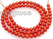 "SALE Tiny 4-5mm Round high quality red natural Coral beads strand 15""-los206"